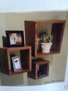 Brand new in box set of 3 wooden cubbies shelves London Ontario image 2