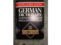 German Dictionary by Collins Gem