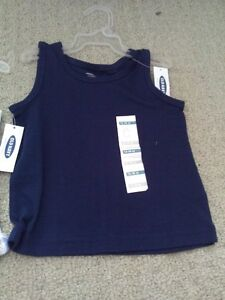 Brand new with tags kid's unisex Old Navy blue shirt top 12-18 M