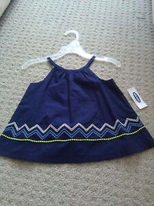 BNWT GIRL'S OLD NAVY BLUE BLOUSE TOP + WHITE DENIM SHORTS OUTFIT London Ontario image 3