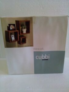 Brand new in box set of 3 wooden cubbies shelves London Ontario image 1