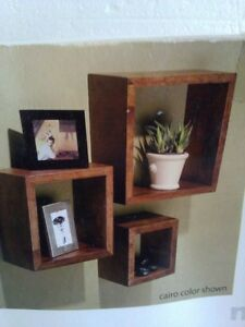 Brand new in box set of 3 wooden cubbies shelves London Ontario image 3