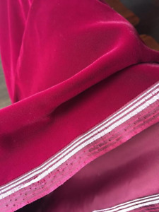 Deep Red Velvet (36 inch wide x 4 yards) / Full or smaller cuts
