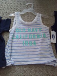 BNWT KID TODDLER GIRL'S T-SHIRTS TANK TOPS POLO 12-18 M LOT OF 5 London Ontario image 2