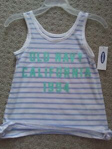 Brand new with tags Old Navy white striped glitter tank top London Ontario image 1