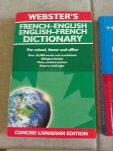Webster's French-English Dictionary Concise Canadian edition