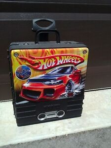 Hotwheels car storage suitcase carrying case system container