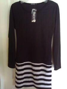 Women's black white striped dress Small New with tags London Ontario image 3