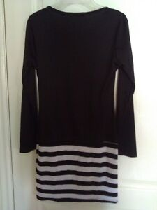 Women's black white striped dress Small New with tags London Ontario image 9