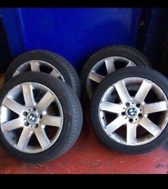"Bmw 17"" wheels and tyres. E36. E46. E90. 1serise."