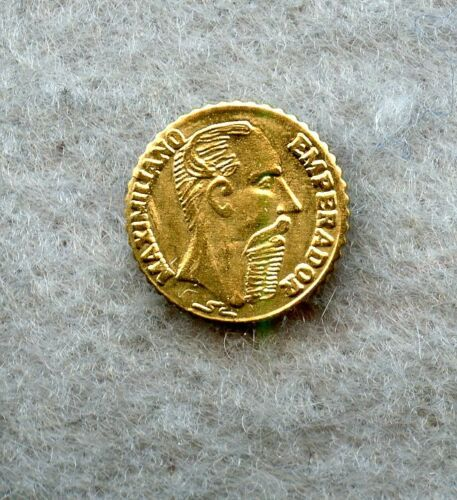 MEXICO MAXIMILIAN ~ 1865 ~ GOLD TOKEN ~ BU (0.5 gram)