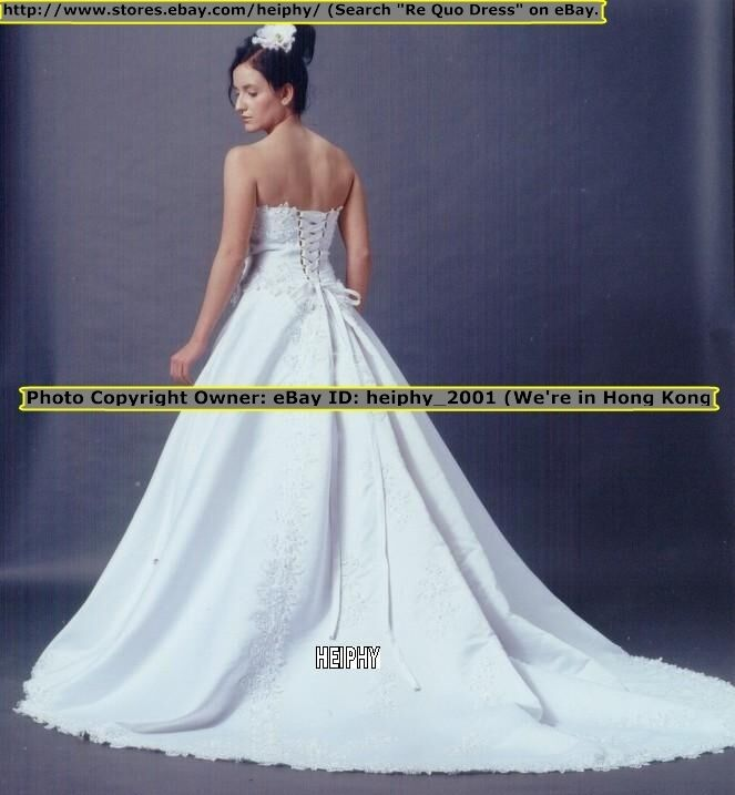 SALE! Nwt  RQ Stunning* Sexy* Emb* Vintage Wedding Dress Size 4 6,8,10,14 ALSz*