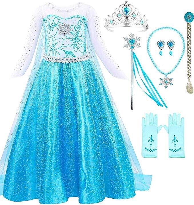 Romys Collection Elsa Party Princess Dress up set costume