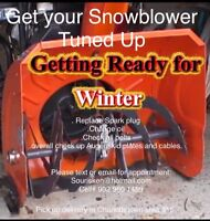 Get your snowblower tuned up before winter.