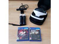 Playstation VR Bundle PSVR + PS CAMERA V2 + 2x MOVE CONTROLLER + GT SPORT AND RESIDENT EVIL VR