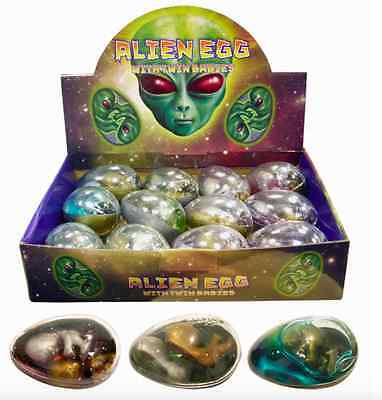 ALIEN EGG WITH BABY TWINS IN SLIME JELLY PERFECT GIFT OR PARTY BAG FILLER