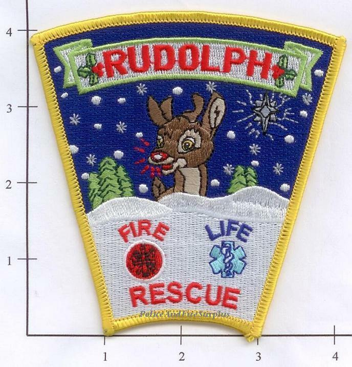 Wisconsin - Rudolph Fire Life Rescue WI Fire Dept Patch - Reindeer