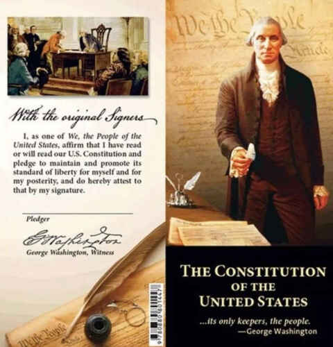 Pocket Size Constitution+bill Of Rights+declaration Of Independence