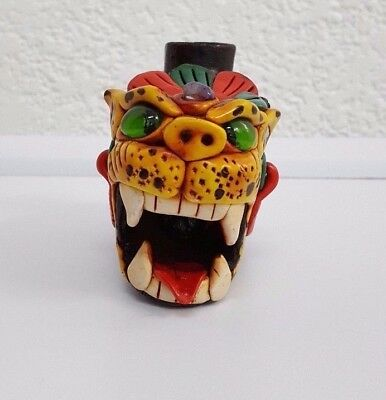 Big Whistle Sound of Snarling of Jaguar Roar Handmade Item Mexican Art Clay Folk