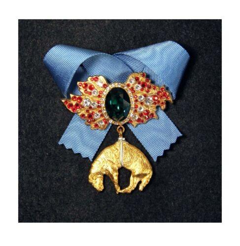 FRANCE BURGUNDY AWARD - ORDER OF THE GOLDEN FLEECE WITH SWAROVSKI CRYSTAL - COPY