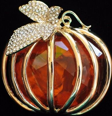 NWT NAPIER FALL AUTUMN HALLOWEEN THANKSGIVING PUMPKIN PATCH PIN BROOCH JEWELRY