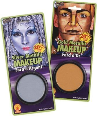 Metallic Cream Make up Silver Gold Shiny Halloween Costume Accessory Tin Man - Manly Halloween Makeup