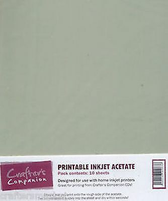 Crafter's Companion printable inkjet acetate - 10 x  A4 sheets