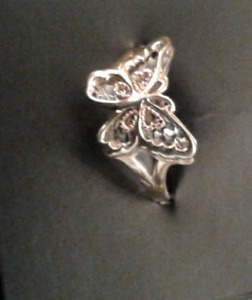 Tri-gold Butterfly Ring Size 7