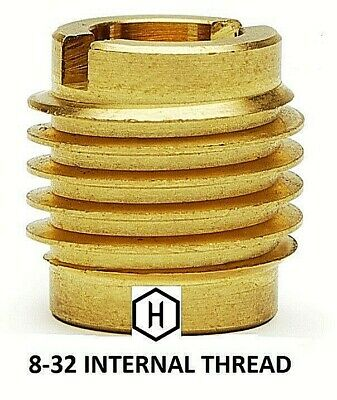 Ez-lok Pn 400-008 8-32 Threaded Brass Insert For Wood 25 Pieces