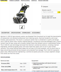 1 year old.karcher expert gas pressure washer for sale