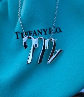 Tiffany & Co 925 Silver Paloma Picasso Scorpio Zodiac Sign Necklace Free (Tiffany And Co Shipping)