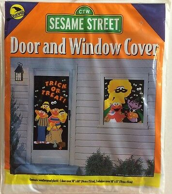 2 Sesame Street Door cover And Window Cover Halloween New decoration - Sesame Street Halloween