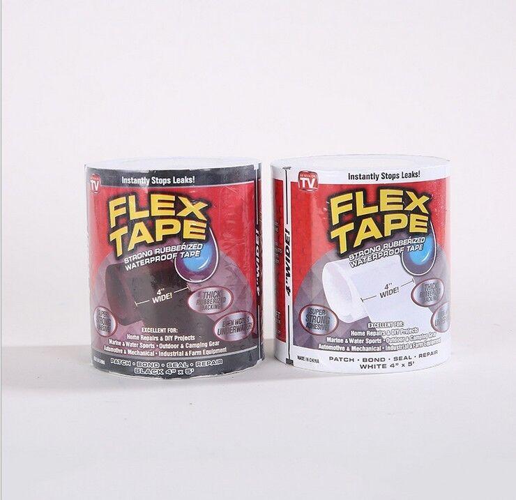 2 X Weiß Flex Tape Wasserfeste Pflaster Wasserrohr Band Klebeband 4