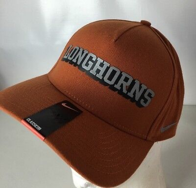 best service 44b91 50d51 NEW Nike Dri-Fit Hat Cap Texas Longhorns NCAA Spellout Logo Swoosh Hook Em  Horns