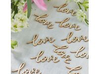 Woode25 LOVE letter - table decoration - BRAND NEW