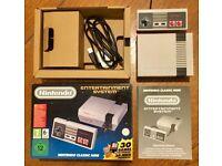 BOXED NES CLASSIC CONSOLE - NINTENDO MINI 500 + GAMES!!