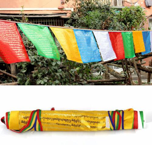 650cm BLESSED 20-FLAGS WIND HORSE PRAYER FLAG: keep evil away Ksitigarbha mantra