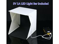 Brand New Portable Photo Shooting Studio Cube Box Photography LED Light Room Micro USB Powered