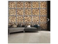 Log wallpaper mural brand new and boxed