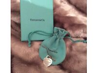 Genuine Tiffany & Co. sterling silver necklace with rose gold key