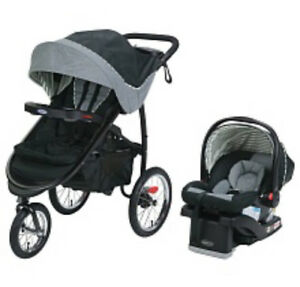 Graco FastAction Fold Jogger Travel System with Click Car seat