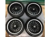 "Team Dynamics set of 4 17"" Alloy wheels with tyres, 4 Stud"