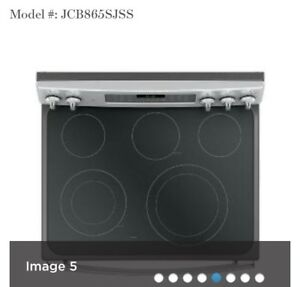 Glass cooktop for GE JCB865SJ1SS