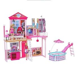 Barbie complete doll house
