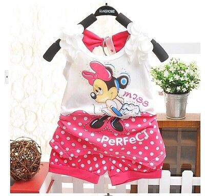 Minnie Mouse Outfit For Infants (Minnie Mouse Pink Summer Outfit For Baby Girls)