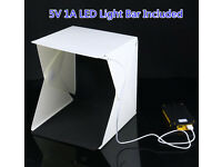 New Portable Photo Shooting Studio Cube Box Photography LED Light Room Micro USB Powered