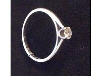 18ct White Gold, 0.21ct Diamond (Size O) Engagement Ring