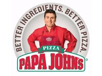 Staff Wanted at Papa John's Prestwich Branch