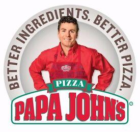 Papa John's Pizza Delivery Driver Ellesmere Port