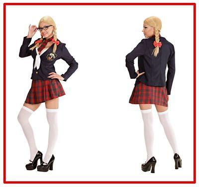 College Girl Jacke Schleifentop Rock Krawatte Schulmädchen Kostüm Damen , (K) ()